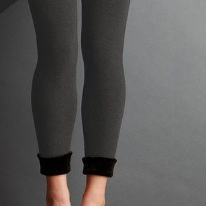 New Lemon Collection Faux Fur Lined Leggings L/XL